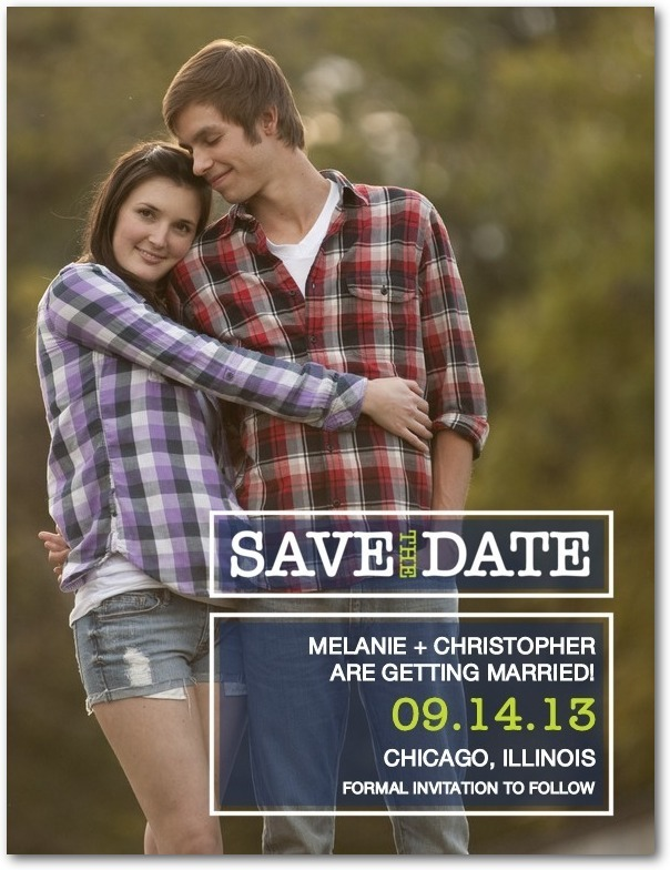photo of Save the date postcards, Sheer Shapes