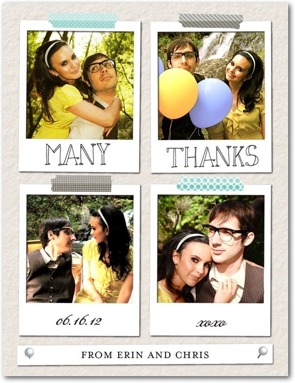 photo of Thank you postcards, Perfect Pin Board
