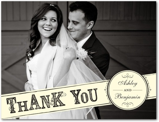 photo of Thank you postcards, Elegant Etching