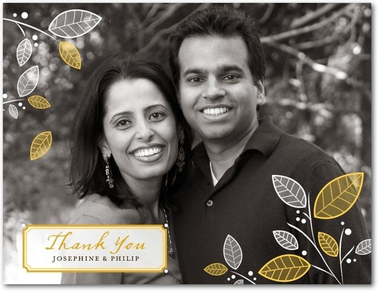 photo of Thank you postcards, Fond Foliage