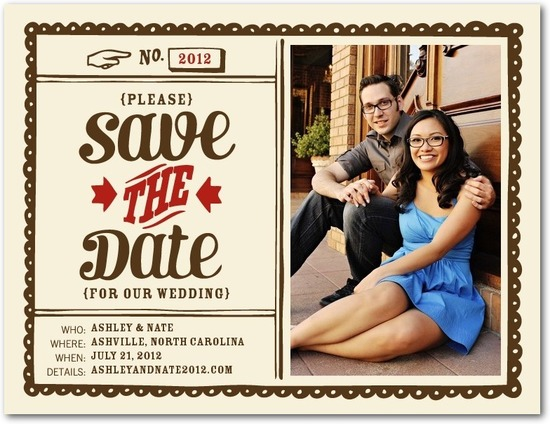 photo of Save the date postcards, Quaint Date