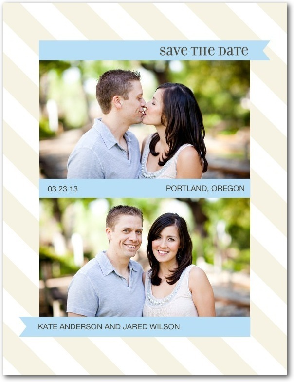 Save the date postcards, Sophisticated Slant