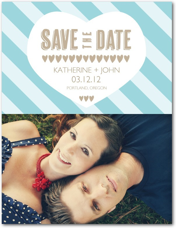 photo of Save the date postcards, Lovely Heart