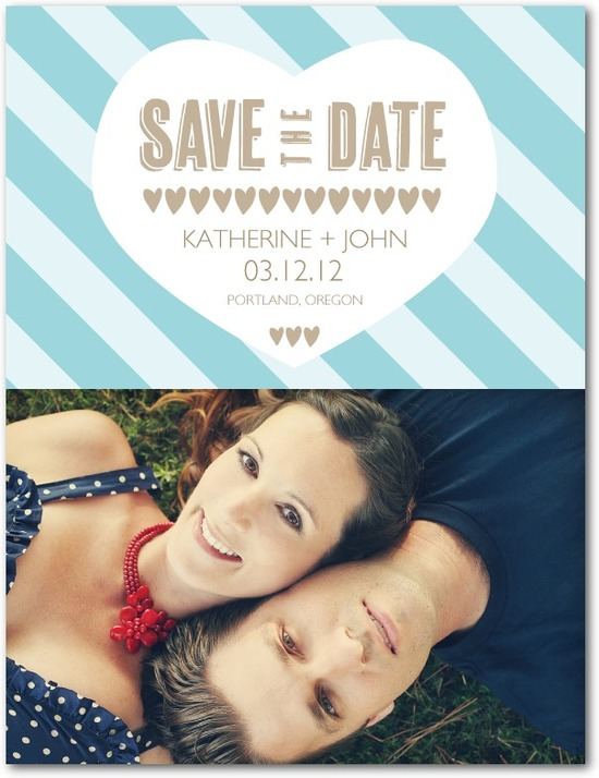 Save the date postcards, Lovely Heart