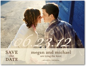 photo of Save the date postcards, Sheer Script