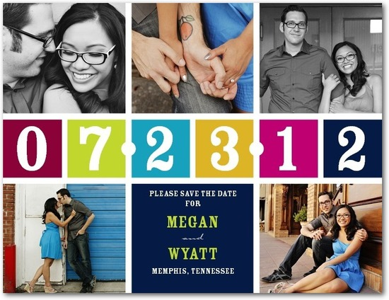 photo of Save the date postcards, Bright Calendar