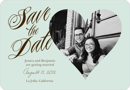 photo of Save the date magnets, Elegant Heart