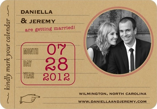 photo of Save the date magnets, Antique Ticket