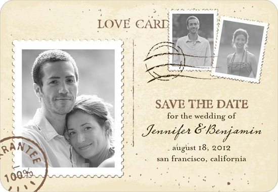 Save the date magnets, Mailed Montage