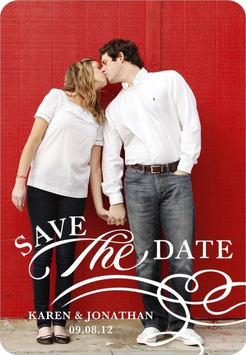 Save the date magnets, Clean Style