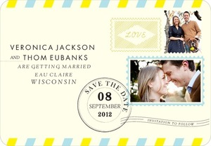 photo of Save the date magnets, Antique Airmail