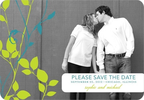 Save the date magnets, Natural Pair