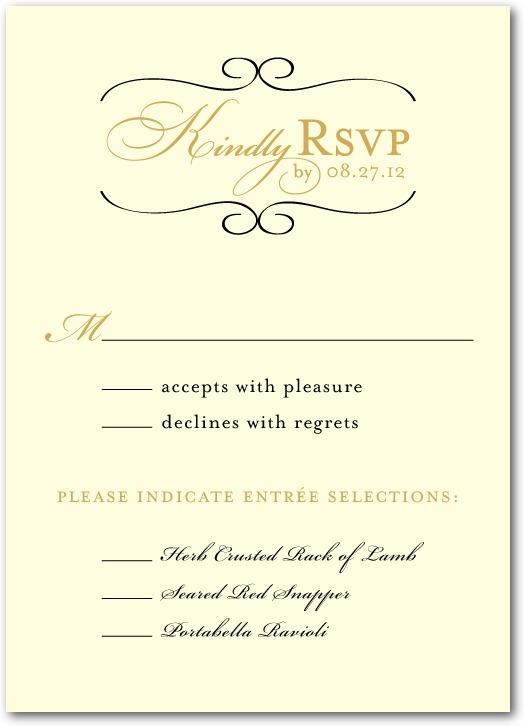 photo of Signature white wedding response cards, Restored Calendar