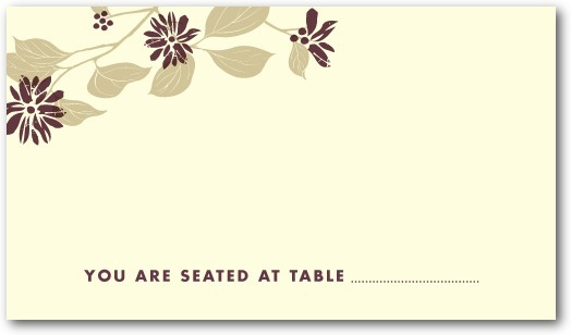 Letterpress place cards, Spring Wonder