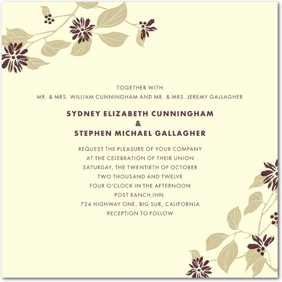 Letterpress wedding invitations, Spring Wonder