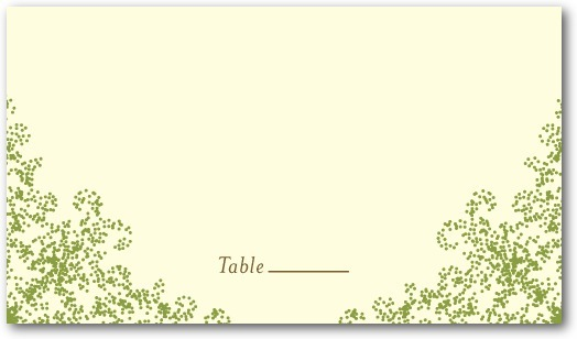 Letterpress place cards, Charmed Moss