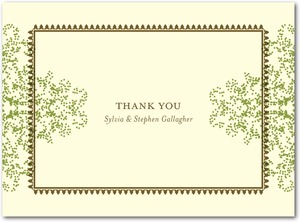 photo of Letterpress thank you cards, Charmed Moss
