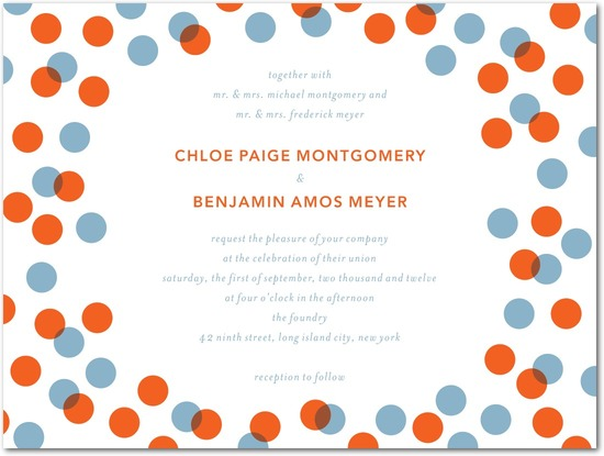 photo of Letterpress wedding invitations, Dots and Delight
