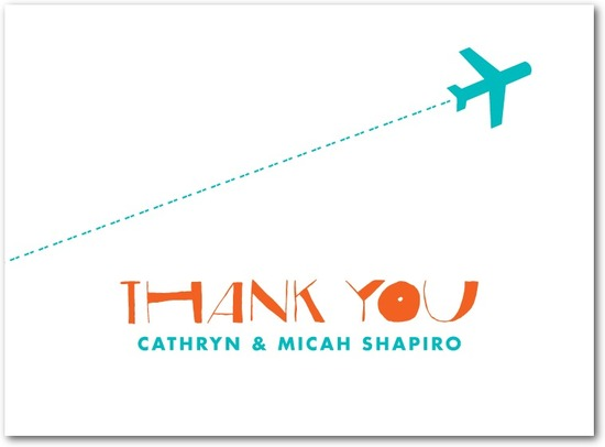 Letterpress thank you cards, Destination Bliss