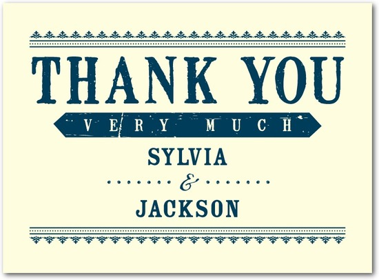 Letterpress thank you cards, Come Celebrate