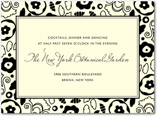Letterpress wedding reception cards, Backyard Chic
