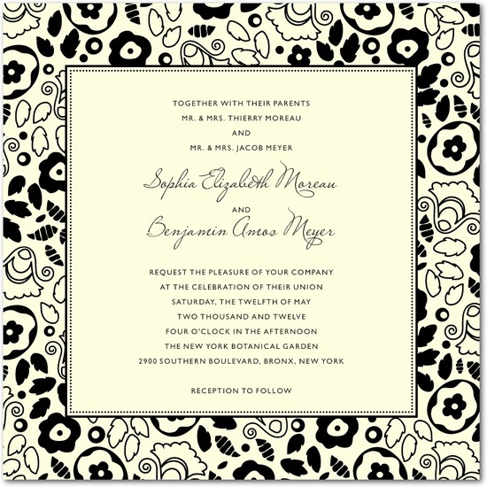 Letterpress wedding invitations, Backyard Chic