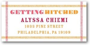 photo of Personalized address labels, Getting Hitched