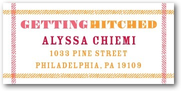 Personalized address labels, Getting Hitched