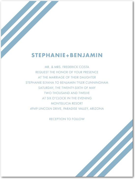 photo of Letterpress wedding invitations, Bold Diagonals