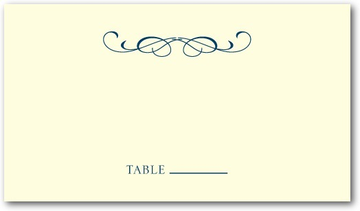 Letterpress place cards, Stately Script