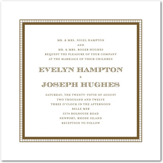 Letterpress wedding invitations, Antique Appeal