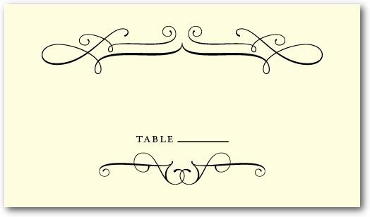 photo of Letterpress place cards, Fine Swirls