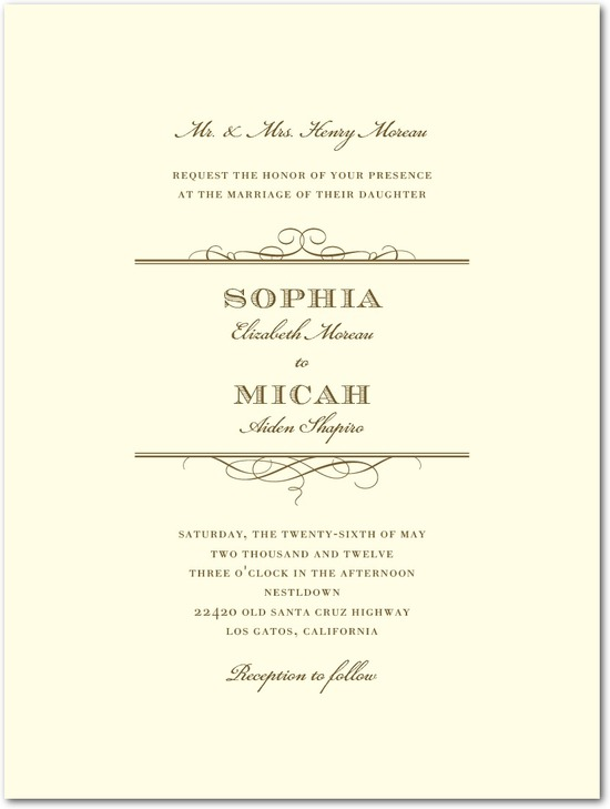 photo of Letterpress wedding invitations, Timeless Grandeur