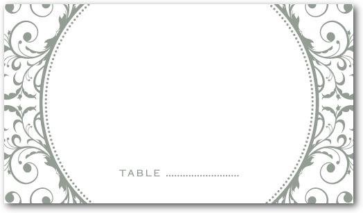 photo of Letterpress place cards, Opulent Appliqu__