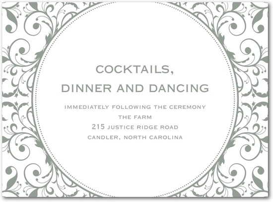 photo of Letterpress wedding reception cards, Opulent Appliqu__