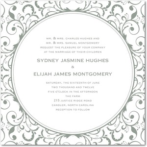 photo of Letterpress wedding invitations, Opulent Appliqu__
