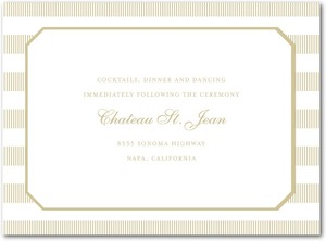 photo of Letterpress wedding reception cards, Linen Love