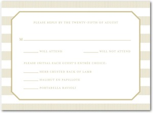 photo of Letterpress wedding response cards, Linen Love