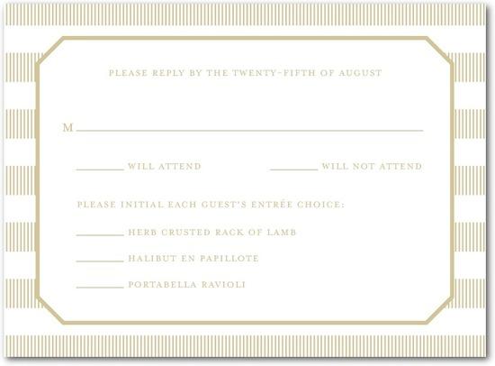photo of Letterpress wedding response cards, Linen Love