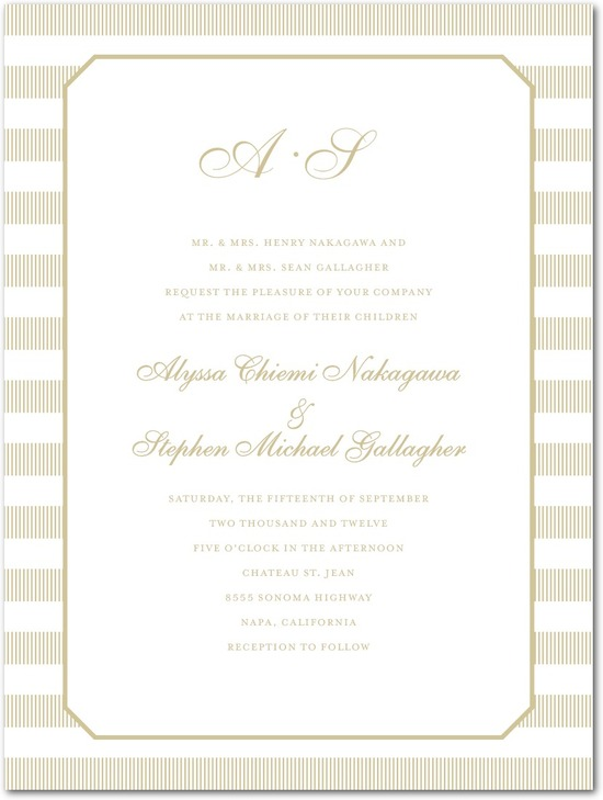 Letterpress wedding invitations, Linen Love