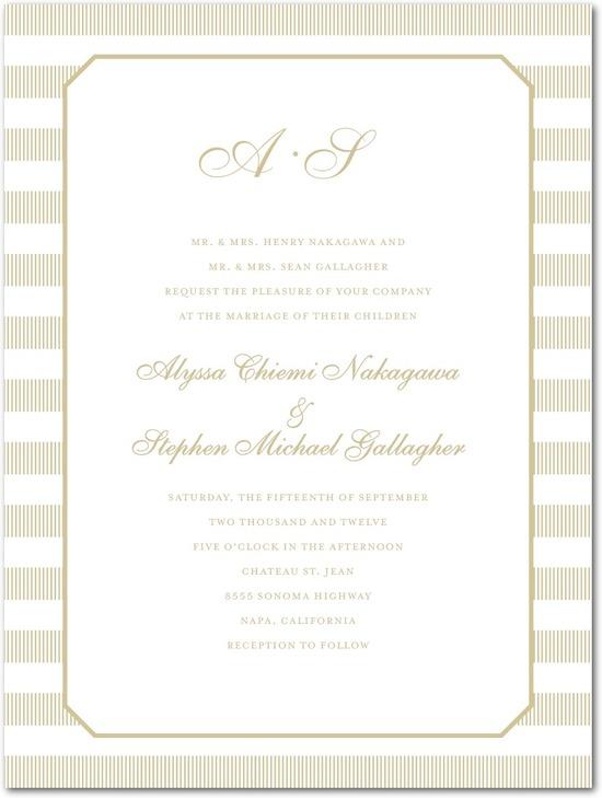 photo of Letterpress wedding invitations, Linen Love