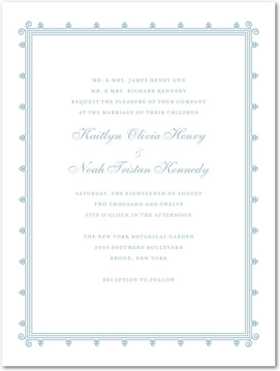 Letterpress wedding invitations, Lovely Antique