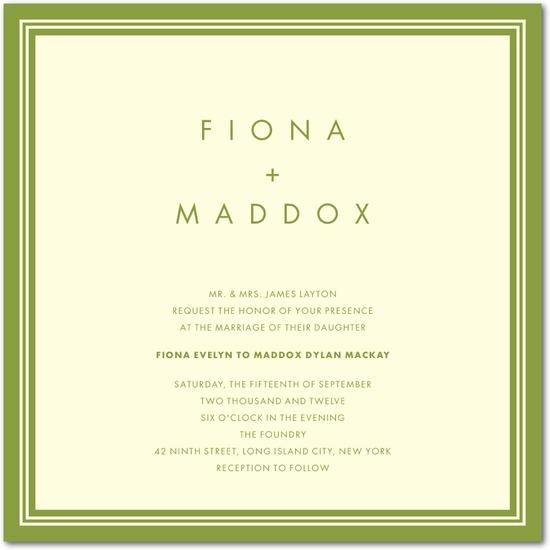 photo of Letterpress wedding invitations, Chic Corners