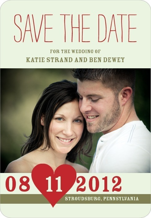 Save the date magnets, Penciled In