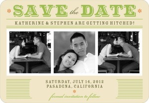 photo of Save the date magnets, Retro Fabulous
