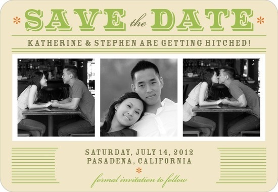 Save the date magnets, Retro Fabulous
