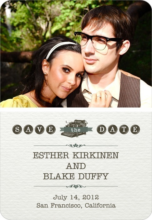 photo of Save the date magnets, Touching Type