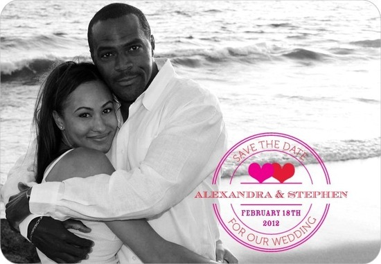 photo of Save the date magnets, Pretty Postmark