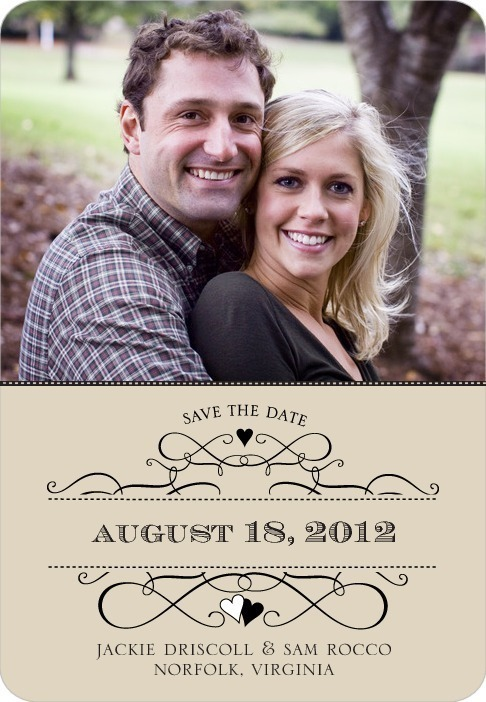 photo of Save the date magnets, Loving Crest
