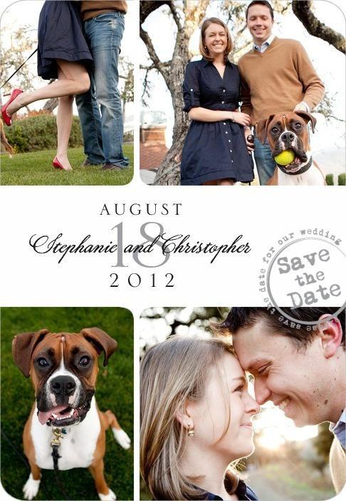 Save the date magnets, Postmarked Montage